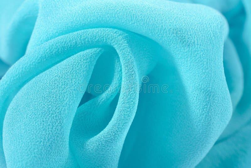 Błękitna krepdeszynowego de chiny tkanina fotografia royalty free
