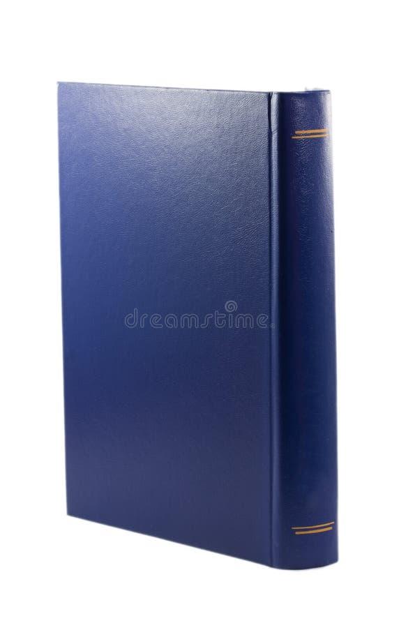 Błękitna książka odizolowywająca na białym tle obraz stock