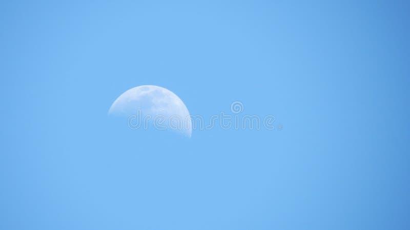 Błękitna księżyc na niebie zdjęcie royalty free