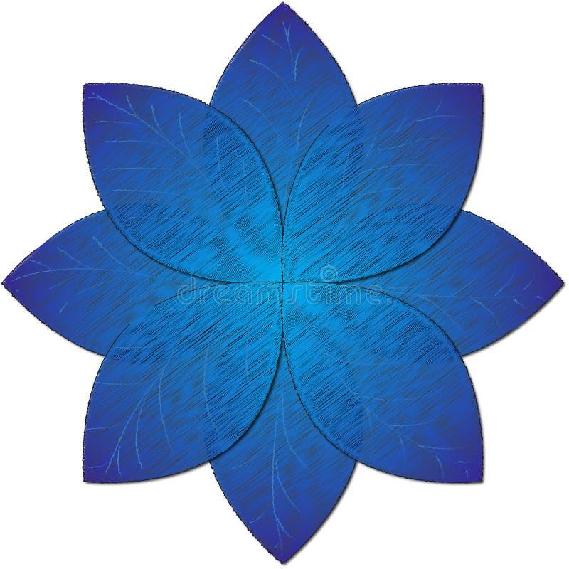 Błękitna kwiat ilustracja zdjęcie royalty free