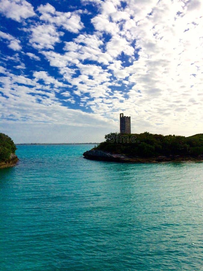 Błękitna laguna Bahamas obrazy stock