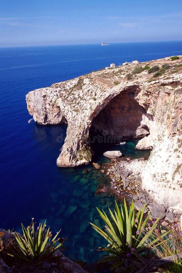Błękitna laguna Malta obraz stock