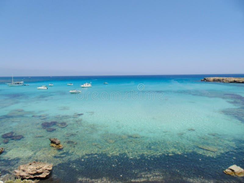 Błękitna laguna na Akamas półwysepie obraz royalty free