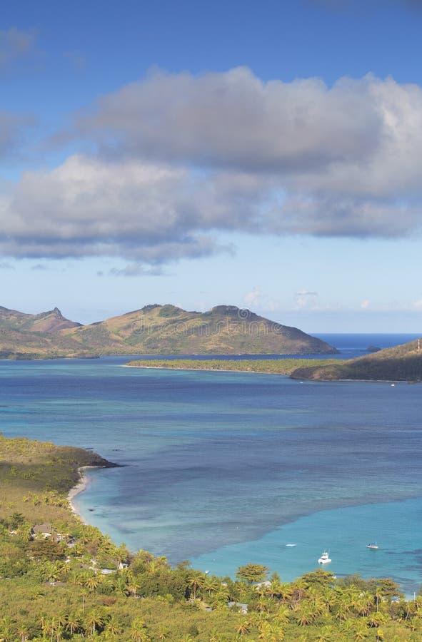 Błękitna laguna, Nacula wyspa, Yasawa wyspy, Fiji zdjęcia royalty free
