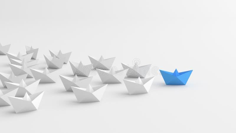 Błękitna lider łódź royalty ilustracja
