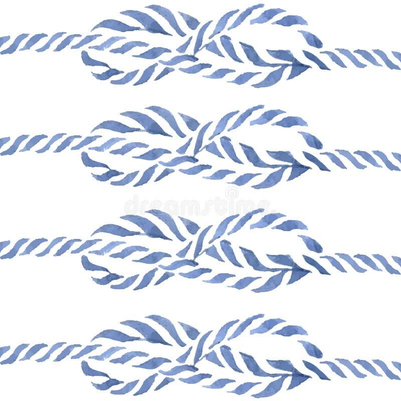 Błękitna linowa ręka rysująca kępki osiem akwarela royalty ilustracja