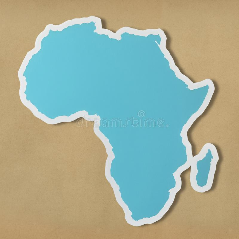 Błękitna mapa Afryka kontynent fotografia royalty free