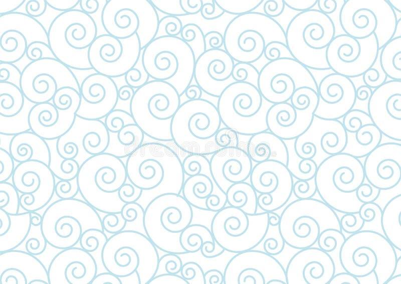 Błękitna pastel spirala na białym Wektorowym tle ilustracji