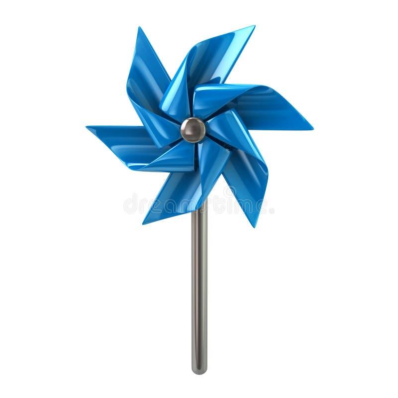 Błękitna pinwheel 3d ilustracja ilustracji