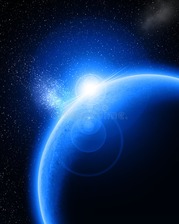 Błękitna planeta ilustracja wektor
