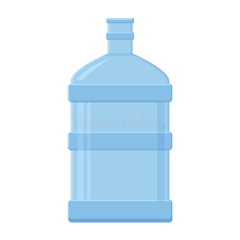 B??kitna plastikowa przejrzysta butelka dla wody, wektor ilustracji