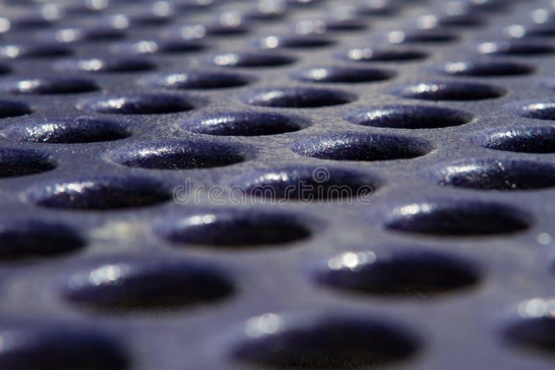 Błękitna Pyknicznego stołu tekstura z dziurami obraz stock