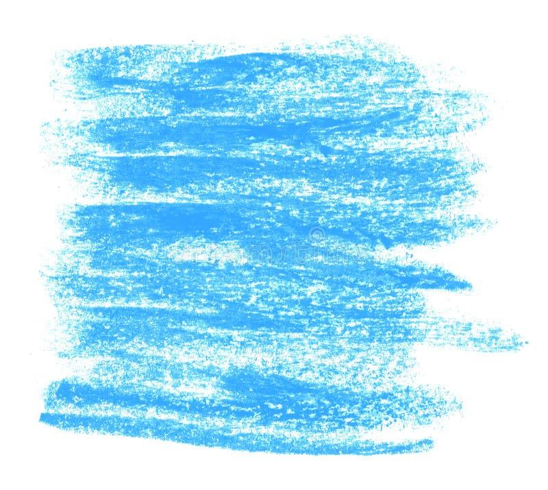 Błękitna ręka malujący kreda lampasy royalty ilustracja