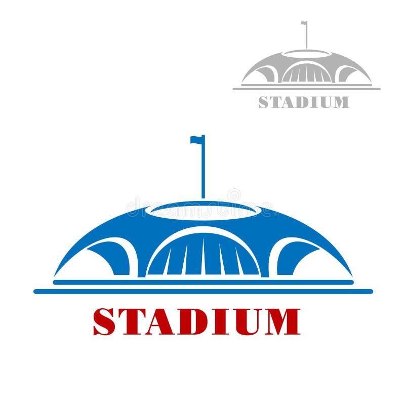 Błękitna sporta stadium kompleksu ikona royalty ilustracja