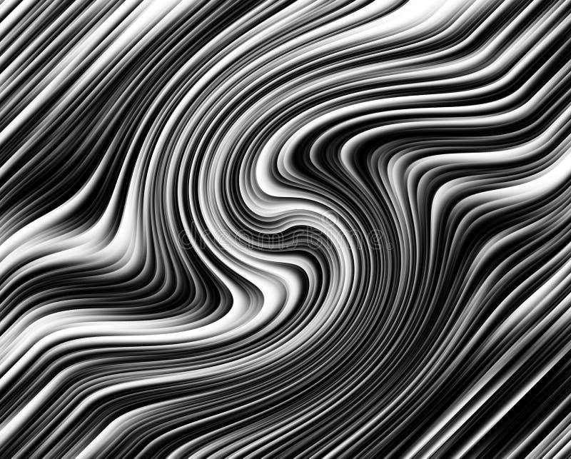 Błękitna stonowana 3d spirala, kwadratowa abstrakcjonistyczna cyfrowa ilustracja, tło wzór abstrakcyjny tło ilustracji