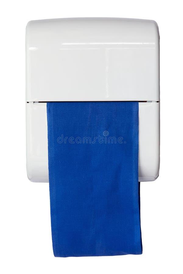 Błękitna sukienna ciągła ręcznikowa aptekarka obrazy stock