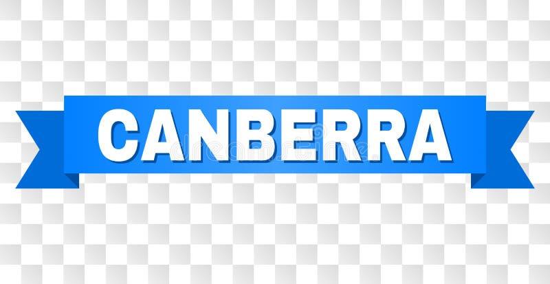 Błękitna taśma z CANBERRA tytułem ilustracji