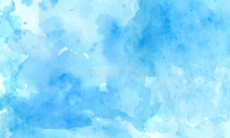 Błękitna tekstura z białymi imitacjami akwarela royalty ilustracja