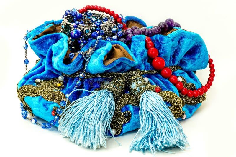 Błękitna torba obrazy royalty free