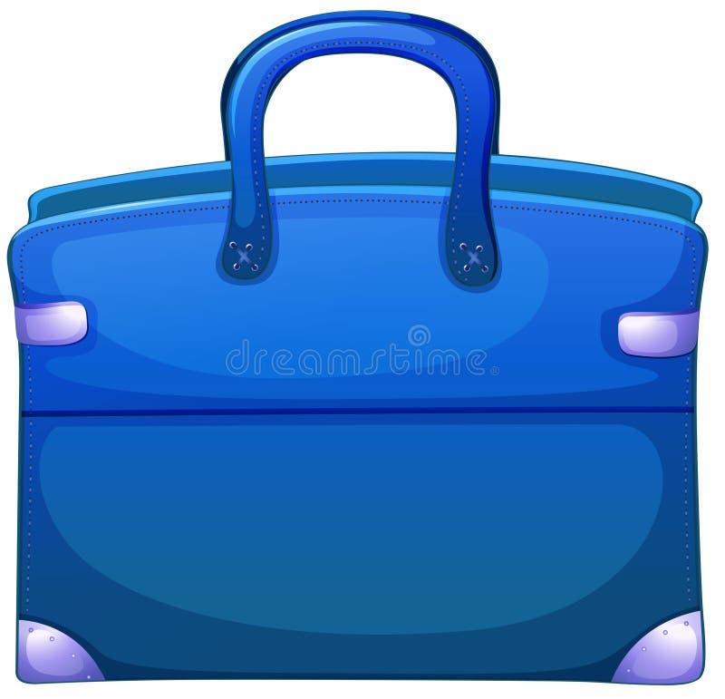 Błękitna torebka royalty ilustracja