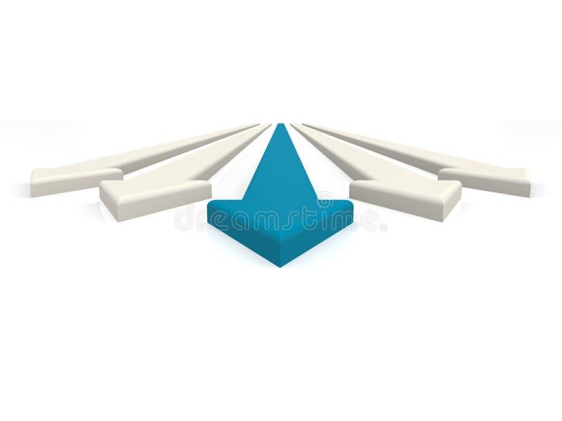 Błękitna wiodąca strzała royalty ilustracja