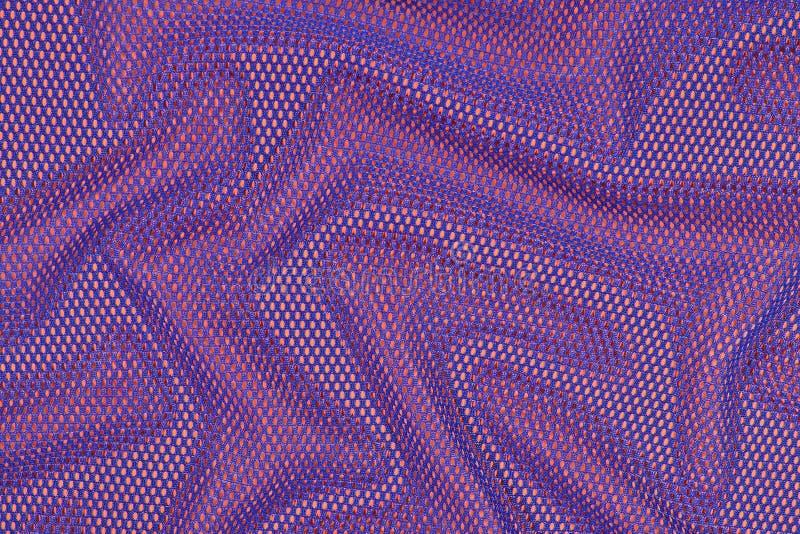 Błękitna zmięta nonwoven tkanina na pomarańcze fotografia royalty free