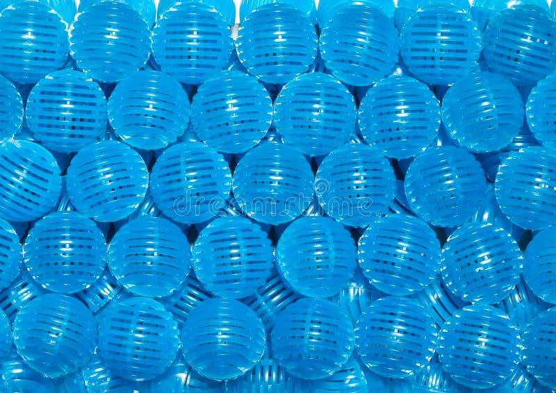 Błękitne życiorys piłki fotografia royalty free