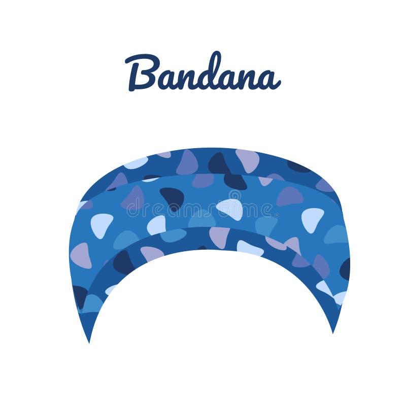 Błękitne bandany z drukiem Przypadkowy lato pióropusz ilustracji