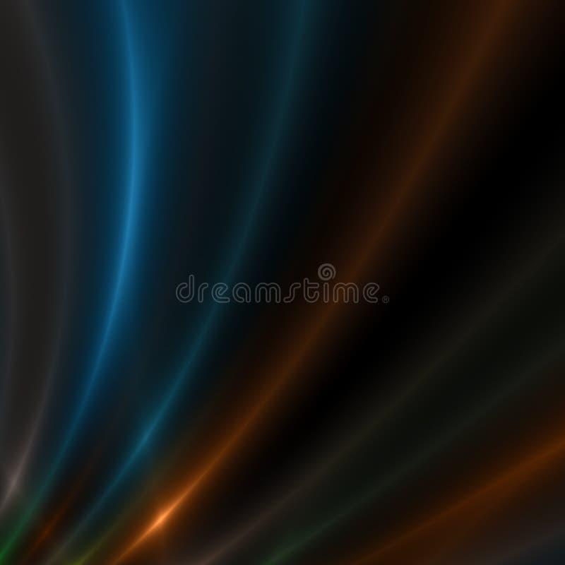 Błękitne i Złociste smugi światło zdjęcie stock