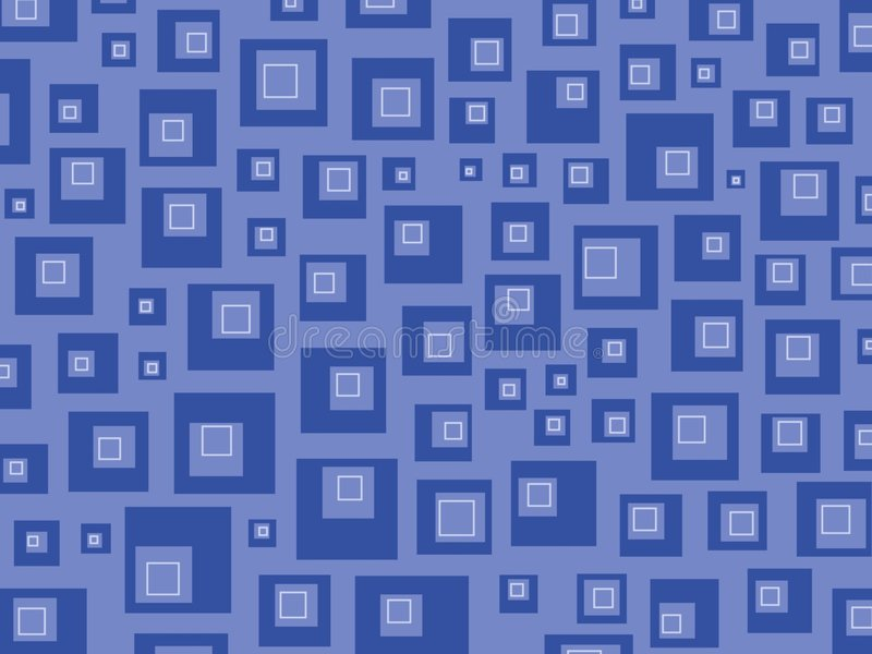 błękitne kwadraty retro royalty ilustracja