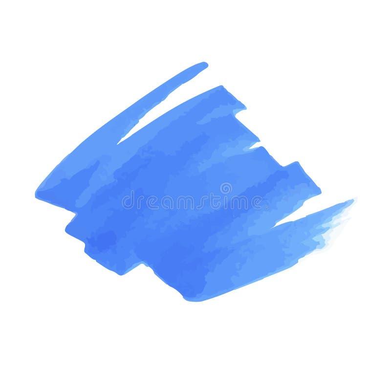Błękitne markier plamy i linie Wektory textured projektów elementy ilustracji