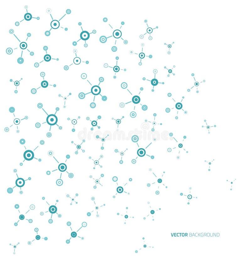 Błękitne medyczne molekuły royalty ilustracja