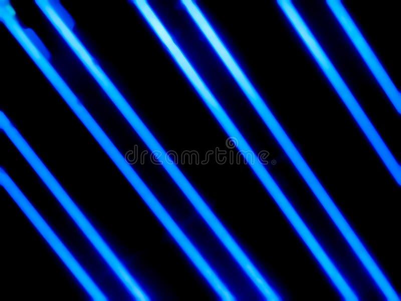 Błękitne neonowe tubki w zmroku royalty ilustracja