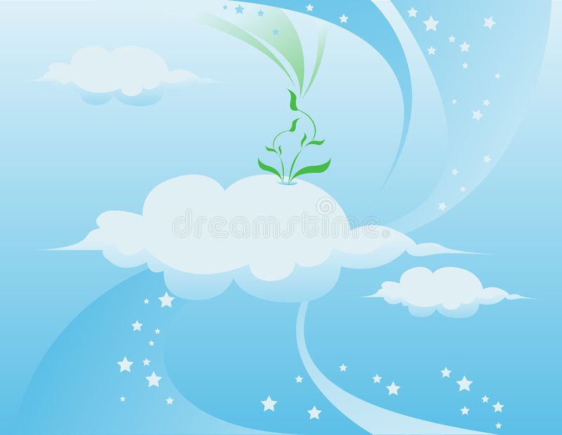 błękitne niebo. ilustracja wektor