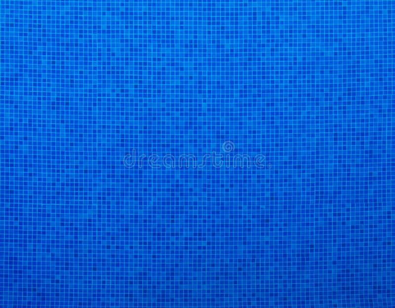 Błękitne pływackiego basenu płytki zdjęcie stock