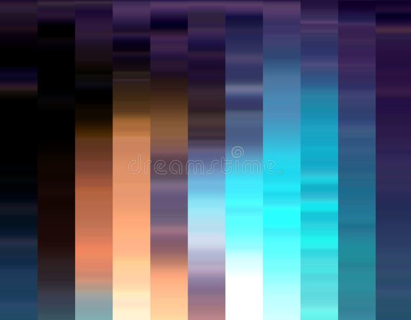 Błękitne phosphorescent linie zaświecają, geometrie, abstrakcjonistyczne grafika ilustracja wektor