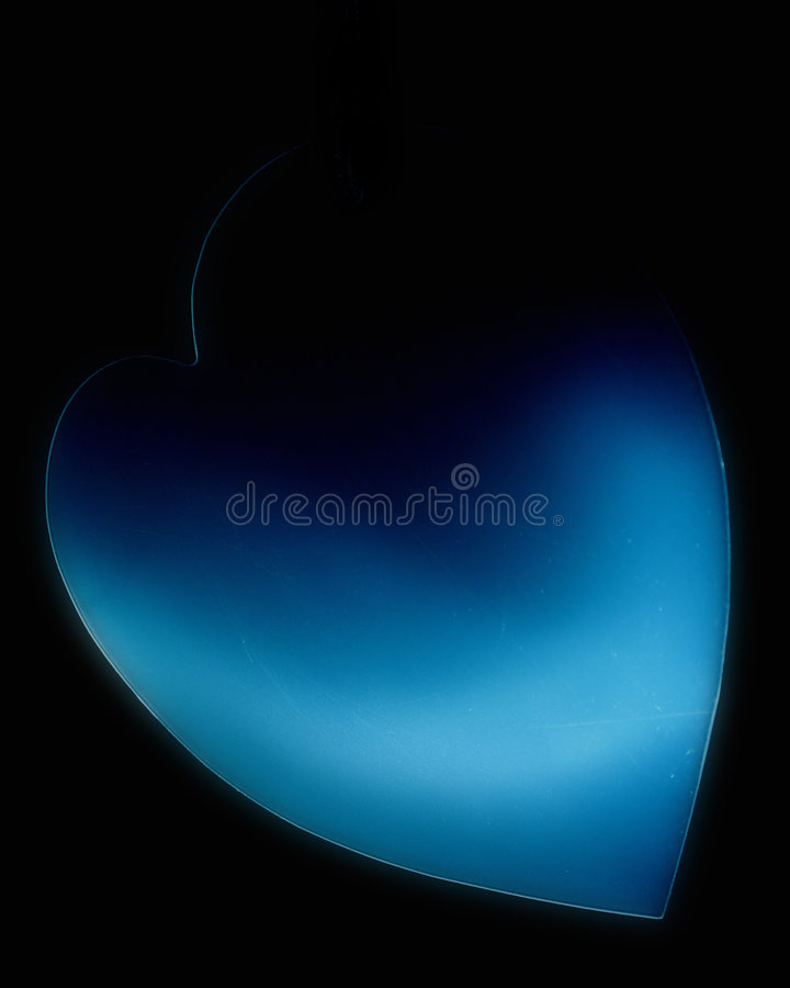 Błękitne Serce Zdjęcie Royalty Free