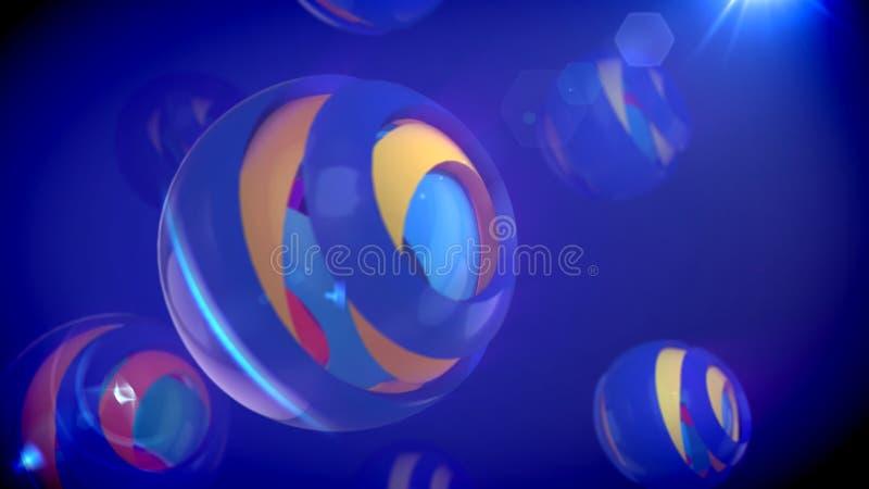 Błękitne sfery od Gniazdujących przedmiotów ilustracji