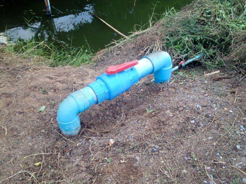 Błękitne wody drymby klapa blisko kanału fotografia stock