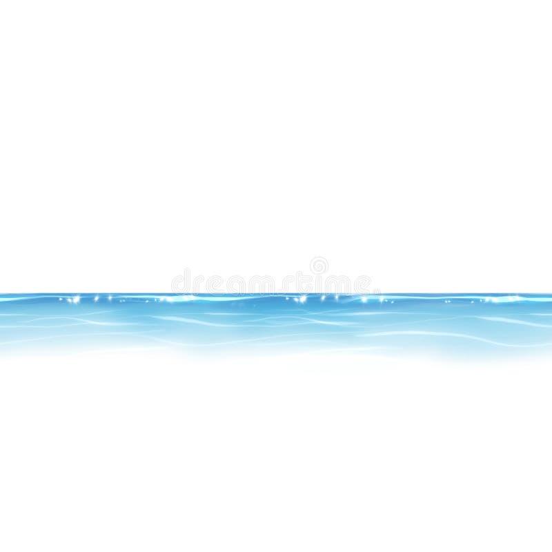 Błękitne wody linia ilustracja wektor