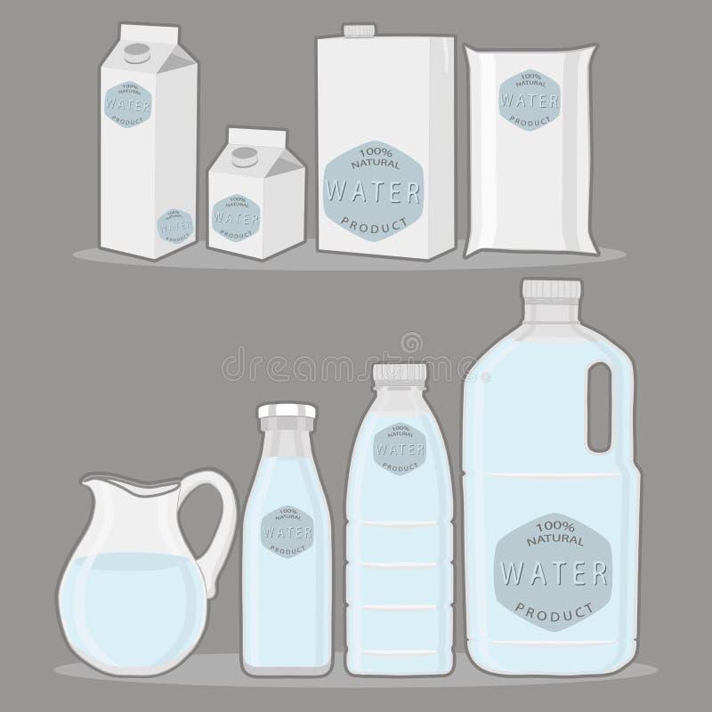 Błękitne wody w dzbanku ilustracji