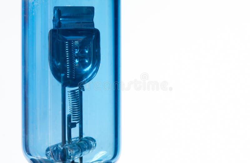 Błękitnego fluorowa reflektoru samochodowa żarówka zdjęcia royalty free