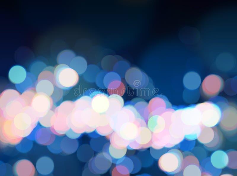 Błękitnego jaskrawego bokeh tła świecący różowy błękitny defocused tło obraz royalty free