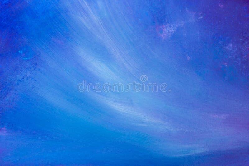 Błękitnego kolorowego nafcianego akrylowego obrazu abstrakcjonistyczny artystyczny szczotkarski uderzenie i splatter tło ilustracji