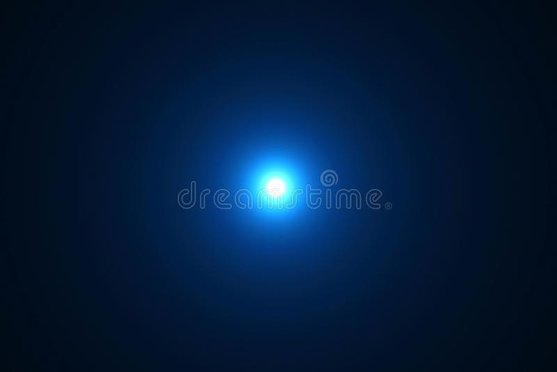 Błękitnego koloru obiektywu racy promieni światła jaskrawi błyski przepuszczają ruchu fo ilustracji