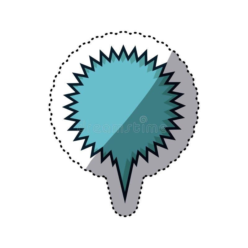 błękitnego majcheru callout kółkowy wrzask dla dialog royalty ilustracja