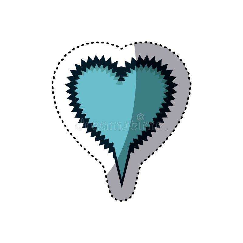 błękitnego majcheru kształta callout kierowy wrzask dla dialog royalty ilustracja