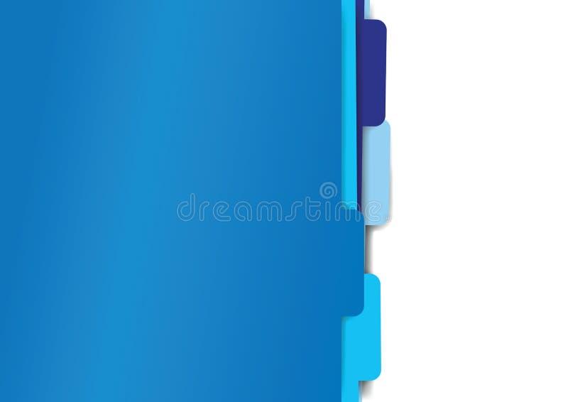 Błękitnego papieru falcówki kartoteki ilustracji