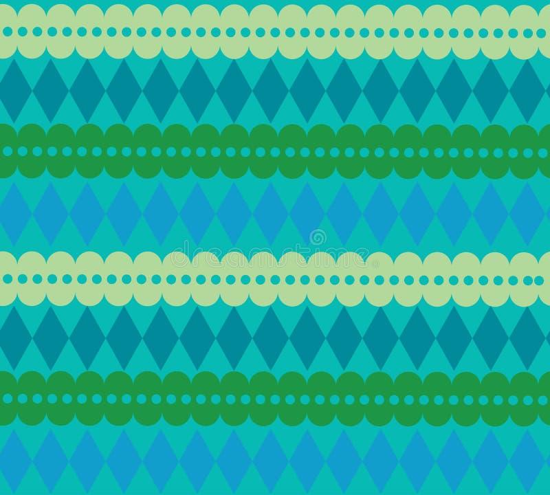 Błękitnego papieru sztandaru bezszwowy wzór ilustracja wektor