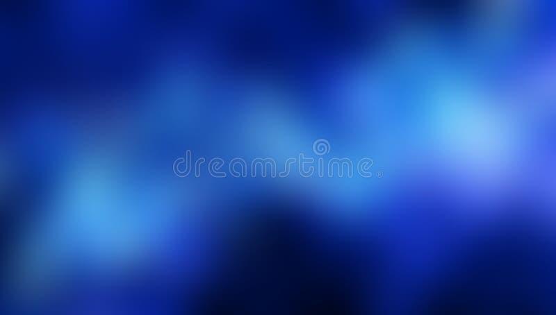 Błękitnego plamy abstrakcjonistycznego kierowego tła wektorowy projekt, kolorowy zamazany ocieniony tło, żywa koloru wektoru ilus ilustracja wektor